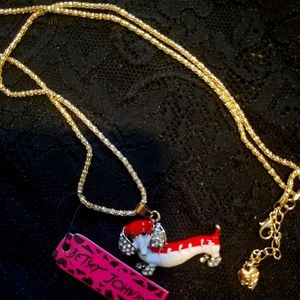 Betsey Johnson Dachshund Necklace